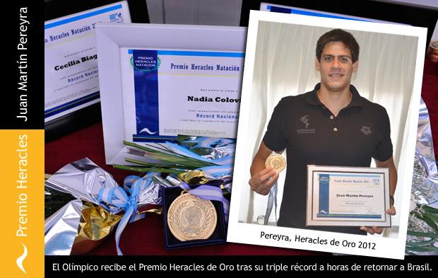 Juan Martín Pereyra recibe el Heracles de Oro