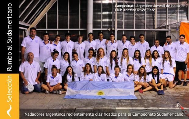 Los nadadores clasificados para el Campeonato Sudamericano de Chile