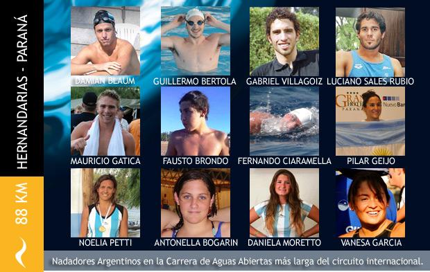 Nadadores Argentinos en la Carrera de Aguas Abiertas más larga del mundo
