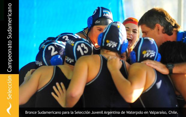 Selección Argentina de Waterpolo se lleva el bronce en el Sudamericano en Chile.