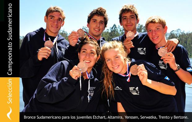 Selección Argentina de Aguas Abiertas se queda con el bronce en el Sudamericano de Chile.