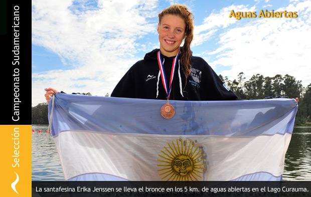 Erika Jenssen se lleva el Bronce en Aguas Abiertas