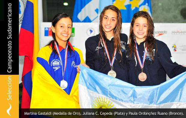 Selección Argentina de Natación en el Sudamericano de Deportes Acuáticos de Chile