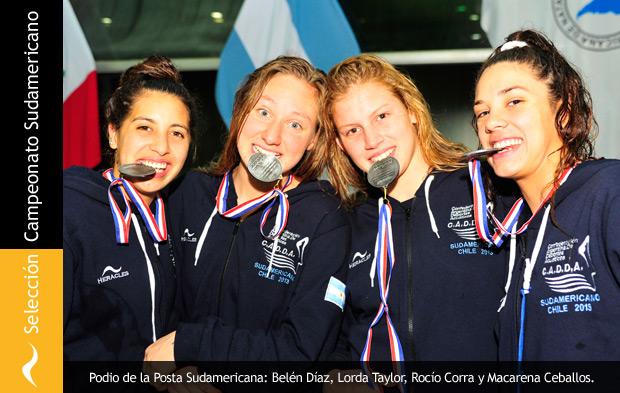 Selección Juvenil de Natación se lleva otra medalla de plata en el sudamericano