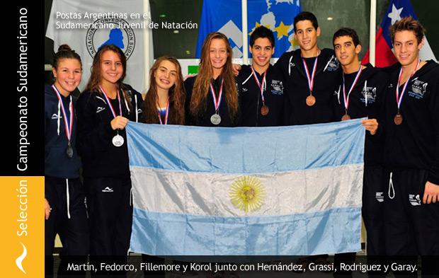 Selección Argentina Juvenil de Natación en el Sudamericano de Chile