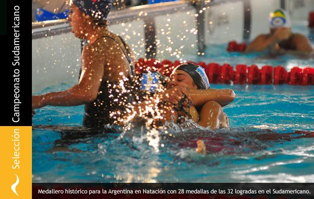 Medallero histórico en Natación en el Sudamericano de Chile 2013