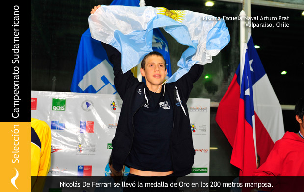 Nicolás De Ferrari se lleva el Oro en el Sudamericano