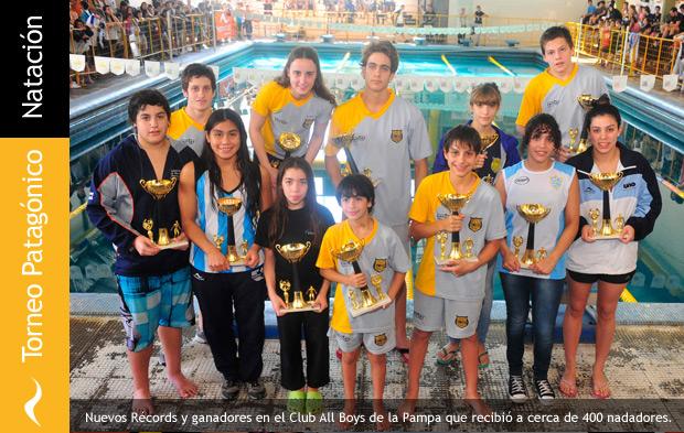 Diez récords patagónicos en natación