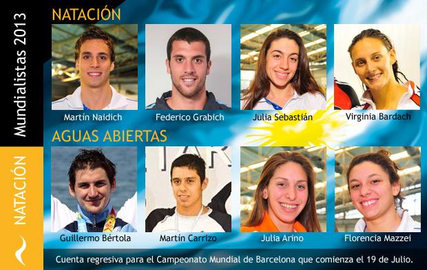 Nadadores Argentinos Clasificados para el Mundial de Barcelona 2013