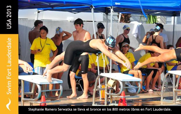 Stephanie Romero Serwatka se lleva la medalla de bronce en los 800 metros libres tras competir en el Swim Fort Lauderdale International Classic