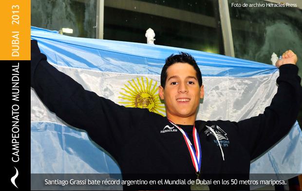 Santiago Grassi bate récord argentino en el mundial de Dubai 2013