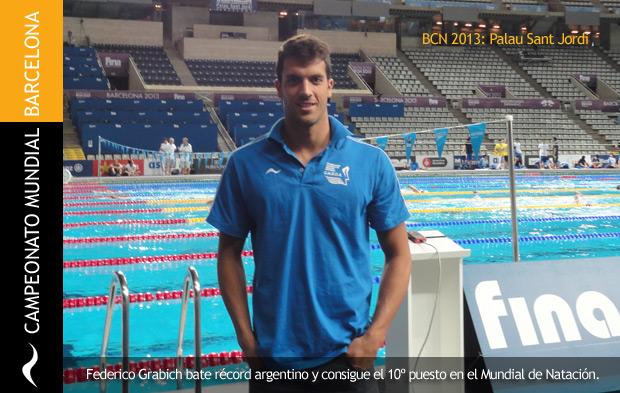 Federico Grabich bate récord argentino y queda décimo en el campeonato mundial de natación