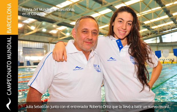 Julia Sebastián bate récord argentino en el Mundial de Natación de Barcelona