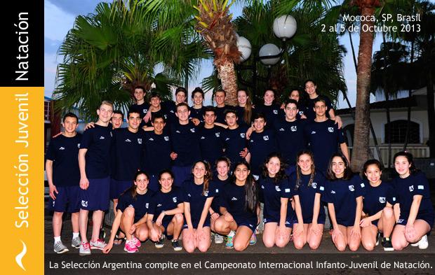 La Selección Juvenil Argentina de Natación Compite en Mococa, Brasil
