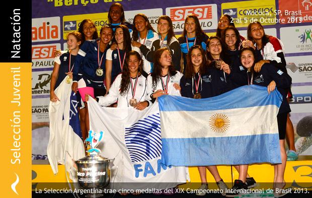 Selección Argentina de Natación en Mococa, Brasil