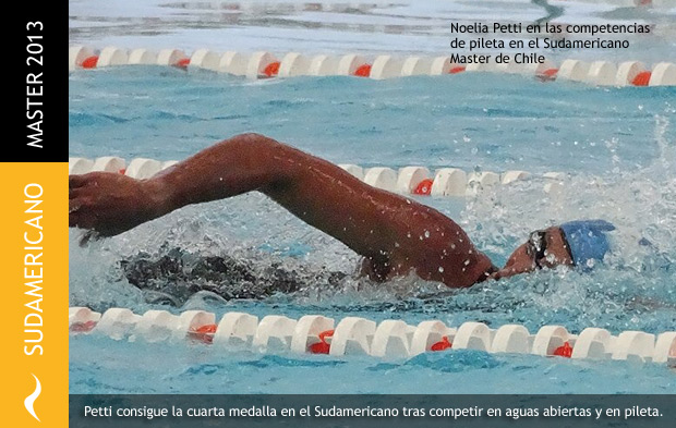 Noelia Petti obtiene 4 medallas en el Sudamericano Master de Chile