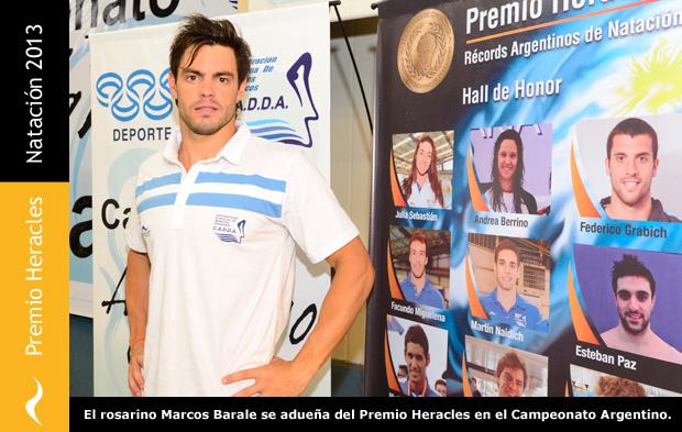 Premio Heracles de Natación para Marcos Barale
