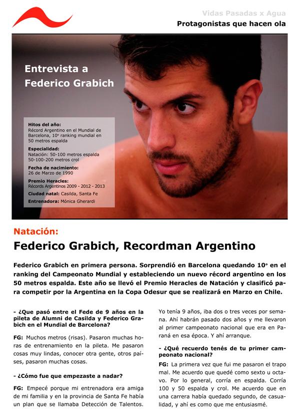 Federico Grabich: Premio Heracles de Natación 2013