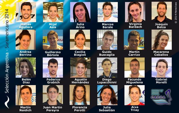 La Selección Argentina de Natación compite en los X Juegos Suramericanos Santiago 2014