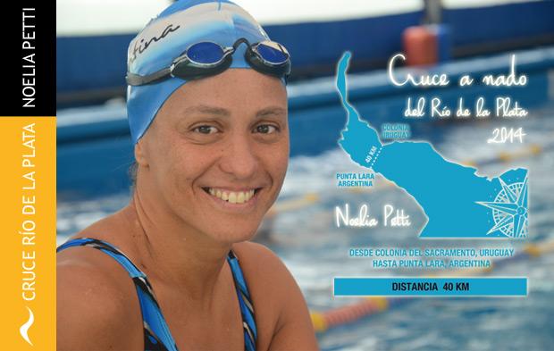 Noelia Petti logra Cruzar el Río de la Plata