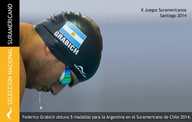 Federico Grabich engrosa el medallero argentino en el Suramericano de Chile 2014