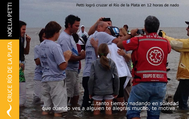 Entrevista a Noelia Petti luego de su cruce del Río de la Plata