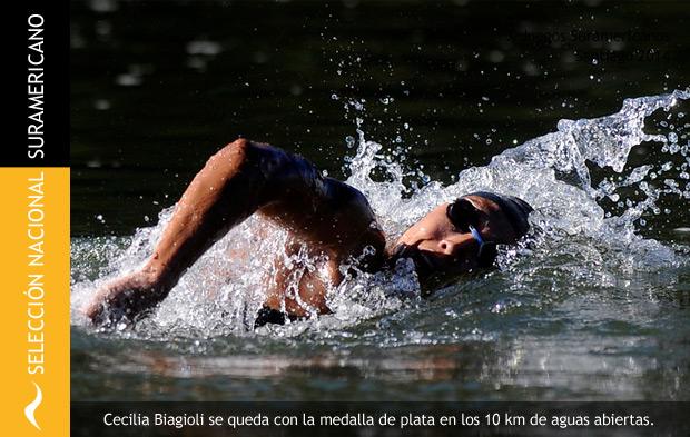 Cecilia Biagioli consigue la Medalla de Plata en el Suramericano Santiago 2014
