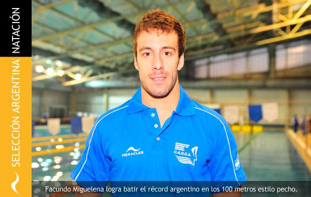 Facundo Miguelena bate el Récord Argentino en los 100 metros estilo pecho
