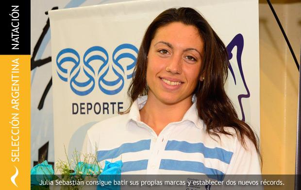 Julia Sebastián hace historia con dos nuevos récords argentinos en natación