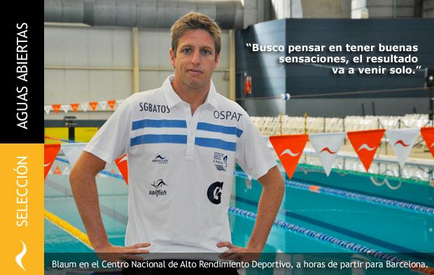 Damián Blaum: cuenta regresiva para el Campeonato Mundial de Aguas Abiertas