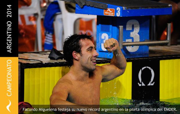 Facundo Miguelena consigue doble récord en su ciudad natal