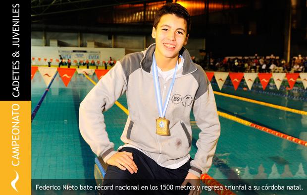 Federico Nieto bate récord nacional en el Campeonato de Cadetes y Juveniles 2014