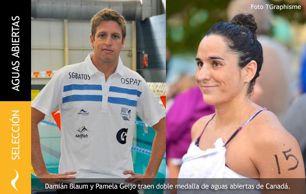 Damián Blaum y Pamela Geijo traen medalla de plata de Canadá