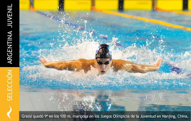Grassi queda en el Top 10 en los 100 metros mariposa en los Juegos Olímpicos de la Juventud de China