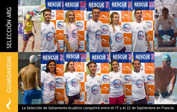 Selección de Salvamento Acuático compite en Francia