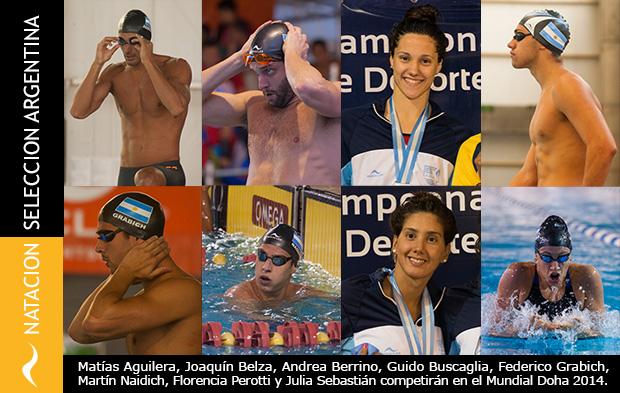 Argentinos clasificados para el Mundial de Natacion Doha, Qatar 2014