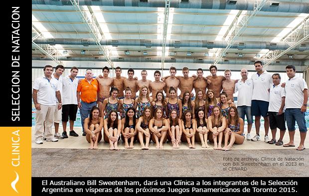 Clínica de Natación del Coach Australiano Sweetenham para la Selección Argentina