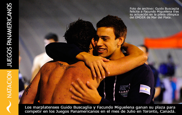 Facundo Miguelena y Guido Buscaglia clasifican para los Juegos Panamericanos de Toronto 2015