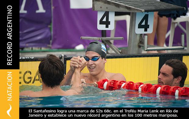 El Nadador Santiago Grassi consigue un nuevo Récord Argentino