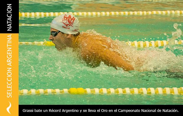 Récord Argentino del nadador Santiago Grassi en los 200 metros mariposa