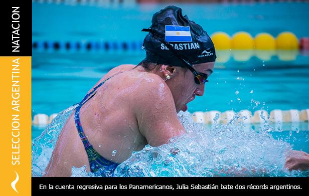 Doble Récord Argentino de Julia Sebastián en Natación