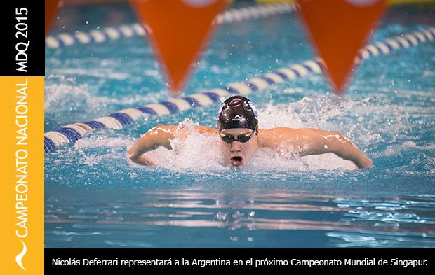 Nicolas Deferrari clasifica para el Campeonato Mundial Junior de Natación