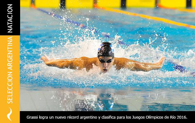 Santiago Grassi clasifica para los Juegos Olímpicos de Río 2016
