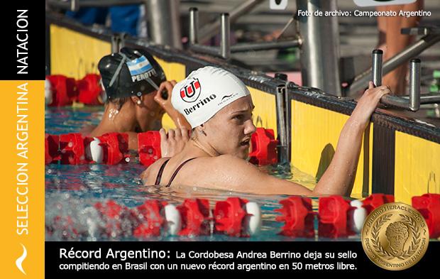 Récord Argentino de Andrea Berrino en Brasil