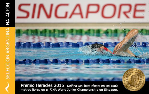 Premio Heracles 2015: Delfina Dini bate récord en el Mundial de Natación