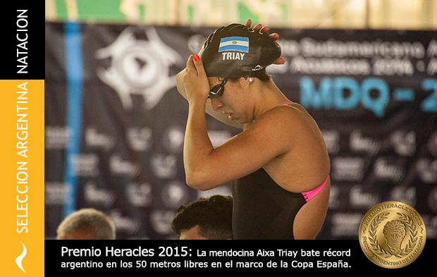 Aixa Triay recibe el Premio Heracles 2015 de Natación
