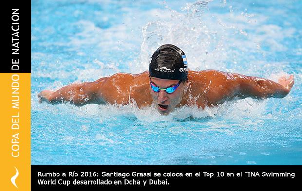Santiago Grassi: Top 10 en la Copa del Mundo de Natación