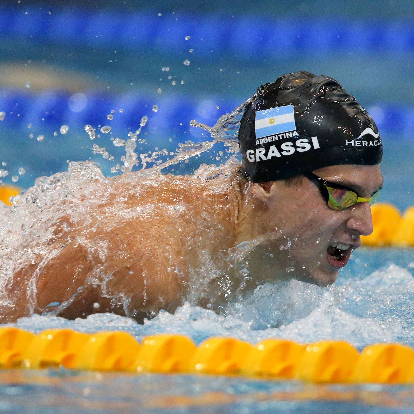 Santiago Grassi, recordman argentino de natación
