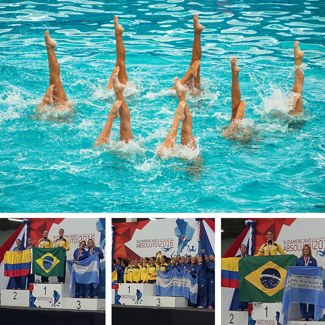 Nado Sincronizado se lleva triple bronce en el Sudamericano