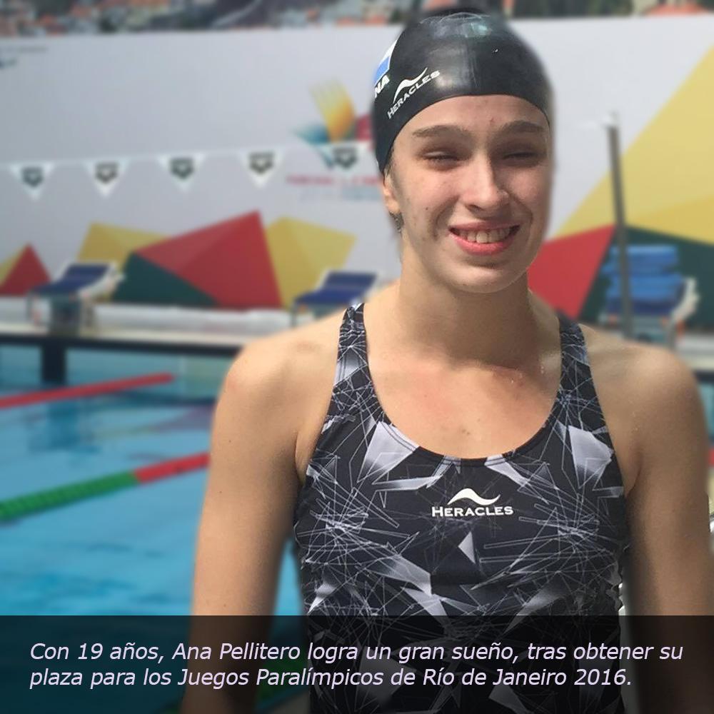 Ana Pellitero logra confirmar su participación en los Juegos Paralímpicos de Río en Natación